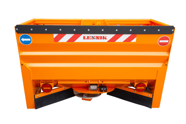 Self-loading salt and sand disc spreader