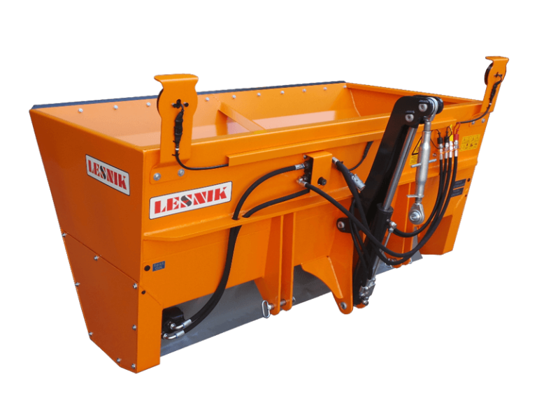 Self-loading salt and sand spreaders with roller